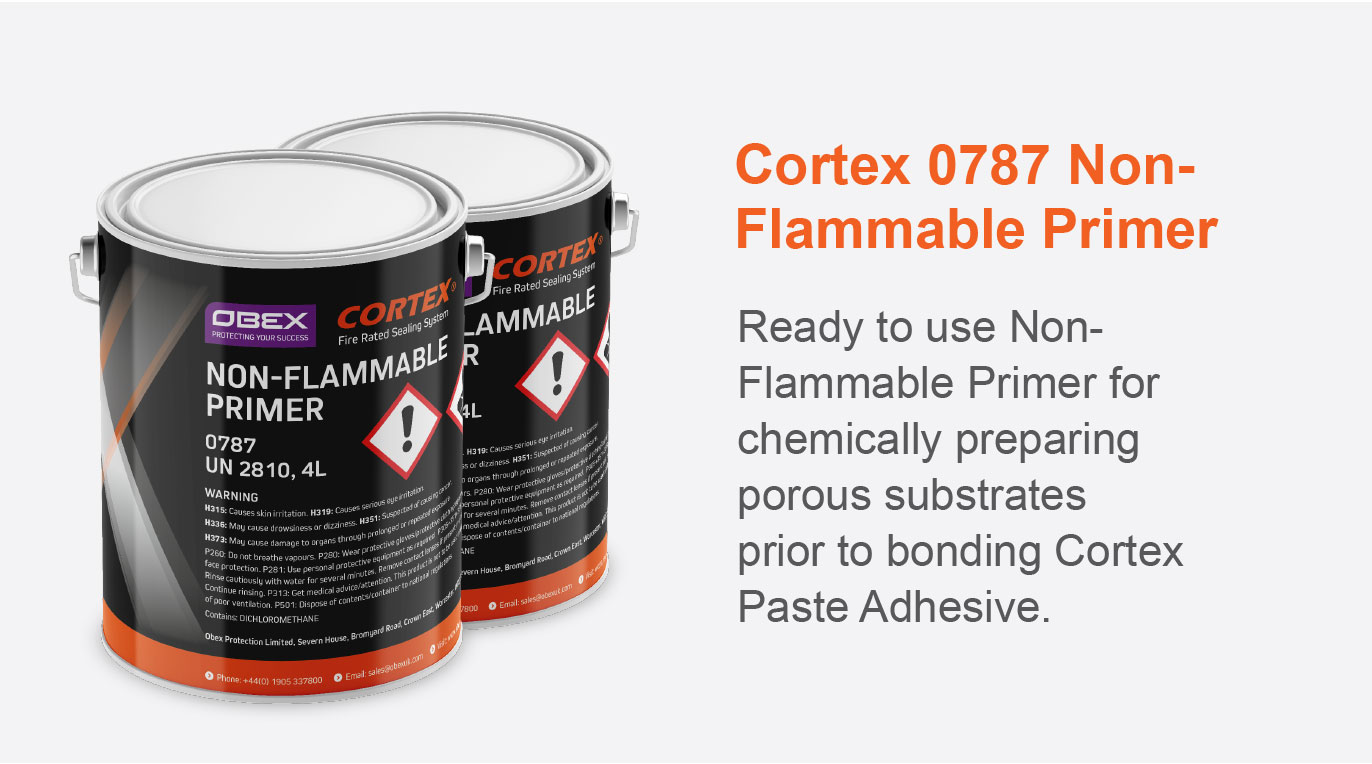 Cortex 0787 Non-Flammable Primer Ready to use for chemically preparing porous substrates prior to bonding Cortex Paste Adhesive